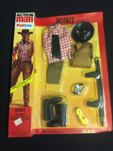ACTION MAN - SCOUT (Cowboy) Uniform - CARDED NEAR MINT old shop Stock case fresh